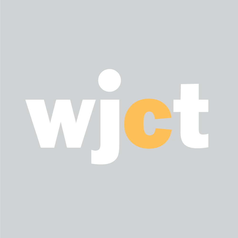 WJCT Logo White & Yellow