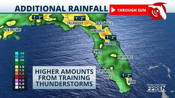 Wet Weekend Ahead As Moisture Lingers Over Florida